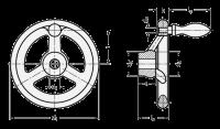 HANDRAD MIT STARKER NABE 950.1-GG-125-B14-A