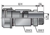MECSKV 11 2x3 m-tec Schlauch- und Kabelverschraubung, schwarz 83582414