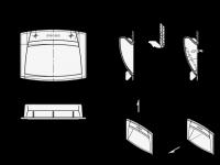 ELESA-GRIFFSCHALE ZUM ANSCHR., DECKEL GELB 733-110-O-DGB