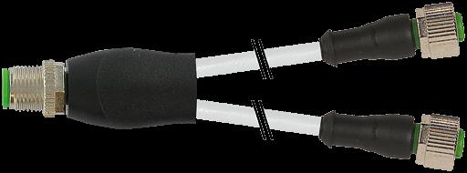 M12 Y-Verteiler / M12 Bu. 0°