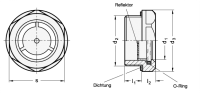 ÖLSCHAUGLAS AUS ALUMINIUM, MIT NATURGLAS 743.1-32-M42X1,5-B