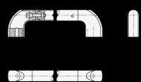 ELESA-BÜGELGRIFF, ABDECKKAPPEN BLAU 767-28-400-DBL
