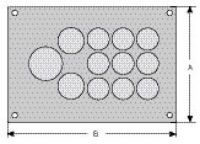 cablequick ® KDP 105/12 Kabeldurchführungsplatte, V4A 87663057