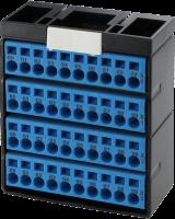 Cube20 Potenzialklemmenblock 4 x blau 56085