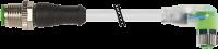 M12 St. ger. auf M8 Bu. gew. mit LED 7999-40641-2330300