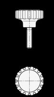 RÄNDELGRIFF MIT EDELSTAHL-GEWINDEEINSATZ 7336-34-M6-11-NI