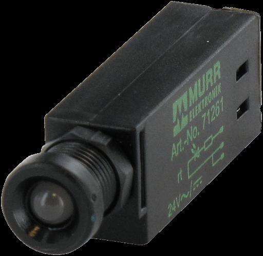 LED-Anzeigebaustein opac/ grün