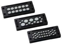 KDP/E 24/17 Kabeldurchführungsplatte, schwarz, VE=100 Stück