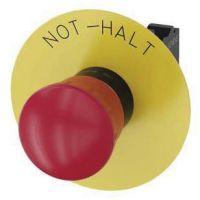 Not-Halt-Pilzdrucktaster, 22mm, rund, rot, Beschriftung: Not-Halt, 1Ö 3SU1100-1HB20-3CH0