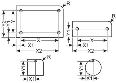 ALU/K 30x8 SW ELOX R HF, schwarz eloxiert, Radius, haftend, 2x3,0mm,