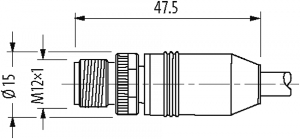 M12 St. ger. mit freiem Leitungsende