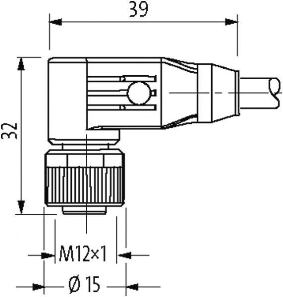 M12 Bu. 90° freies Ltg.-ende