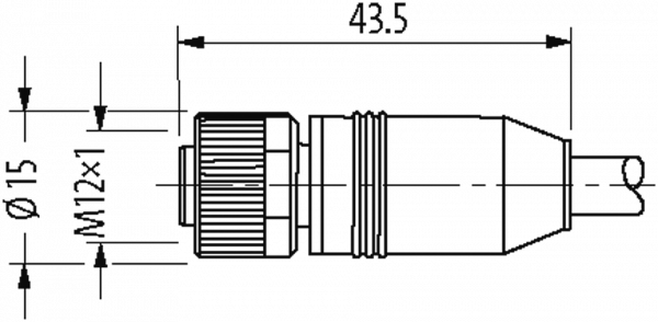 M12 Bu. ger. mit freiem Leitungsende