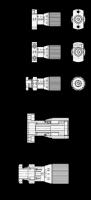 STELLSPINDEL MIT SKALA, BEFESTIGUNG VON VORNE 727-27-A-SL