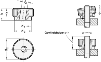 EDELSTAHL-SCHNELLSPANN-RÄNDELMUTTER 6303.1-M10-NI