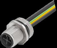 M12 Power S-kod. Flanschstecker Vorderwandmontage 7000-P6281-9400050