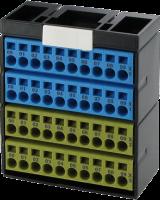 Potenzialklemmenblock blau gelb 56110
