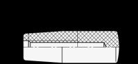 THERMOPLAST-ZYLINDERKNOPF, SCHWARZ 519.2-24-M10-SW