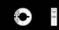 ALUMINIUM-STELLRING, GESCHLITZT 706.2-20-B6-AL
