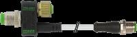 T-Stück M12-Bu 8p / M12-St 3p + M12-St 4p + Ltg 334011