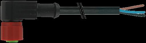 M12 Bu.gew mit freiem Leitungsende 3p. C-Cod.