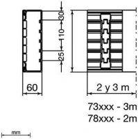 Unex 73083-2 Installationskanal 60x110 73083-2