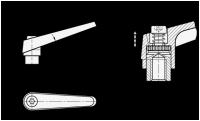 VERSTELLB. KLEMMHEBEL, EDELSTAHL, ORANGE 101.1-14-M5-OS