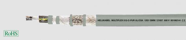 PUR-Schleppkettenleitung UL/CSA MULTIFLEX 512®-C-PUR UL/CSA 4G1,5 mm² (16 AWG) Grau