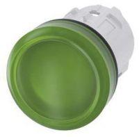 Leuchtmelder, 22mm, rund, grün, Linse, glatt 3SU1001-6AA40-0AA0