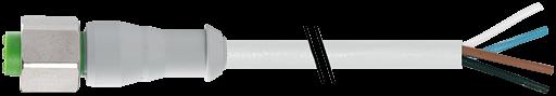 M12 Bu. ger. mit freiem Leitungsende F&B