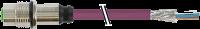 M12 Flanschbuchse B codiert Hinterwand Profibus 7000-14171-8410100
