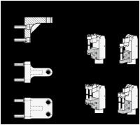 DRUCKSCHRAUBENHALTER (FÜR EINE ANDRÜCKSCHRAUBE) 867.1-32-M8-E