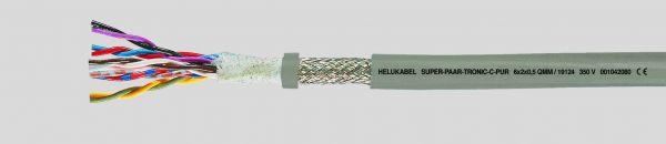 Daten-Schleppkettenleitung SUPER-PAAR-TRONIC-C-PUR® 14x2x0,75 mm² Grau