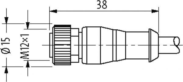 M12 SC Bu. 0° freies Leitungsende