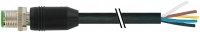 M12 St. ger. mit freiem Leitungsende 7000-19001-7020500