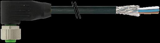M12 Bu. gew. geschirmt mit freiem Ltg.-ende