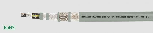 PUR-Schleppkettenleitung MULTIFLEX 512®-C-PUR 4G2,5 mm² Grau
