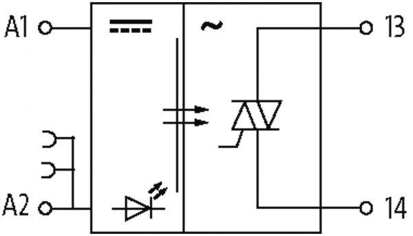 MIRO TH 230VAC FK Optokopplermodul