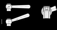 VERSTELLB.KEGELGRIFF, SCHRÄG 99.2-10-M6-N