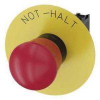 Not-Halt-Pilzdrucktaster, 22mm, rund, rot, Beschriftung: Not-Halt, 1Ö 3SU1100-1HB20-1CH0