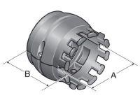 SRF/ZL-95 sw, Schlauchring fest mit integrierter Zugentlastung 83692270
